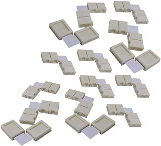 DEMASLED - 5 Pcs. - LED Strip Connector 5050/5060 LED Strip Light Connectors (2 Pins) 10 mm L-Shape, Strip to Strip