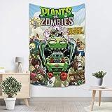 WANGNIU Plantas Vs Zombies Tapiz Sala de Estar Creativa Dormitorio Fondo Colgante de...