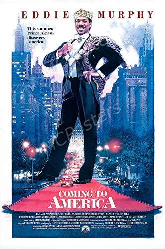 MCPosters - Coming to America Eddie Murphy Glossy Finish Movie Poster - MCP552 (24' x 36' (61cm x 91.5cm))