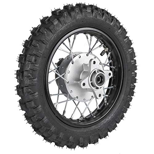 ZXTDR 2.5-10 10' Rear Wheel Tire and Rim 1.4 x 10 With 12mm Bearing for 50cc CRF50 XR50 Dirt Pit Bike