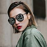VVIIYJ Weibliche Sonnenbrille Runde Gesicht Sonnenbrille Weibliche Lange Gesicht Myopie Sonnenbrille Quadrat Gesicht -