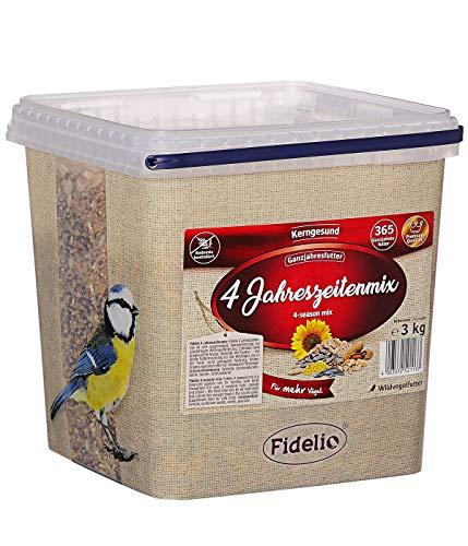 Fidelio Wildvogelfutter, 4-Jahreszeitenmix, 3 kg