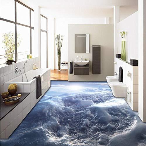 Gang slaapkamer keuken vloerbedekking schilderij mooie hemel zelfklevende PVC vloer behang muurschildering 450cm(L) x300cm(W)