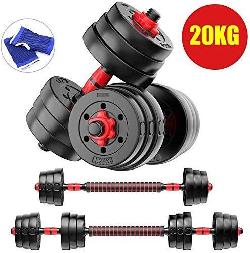 Nologo Egcsf Kurzhantel, perfektes Fitnessgewicht für Kern- und Krafttraining, Workout, Muskelaufbau, Bautraining 20 kg