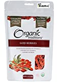 Goji Berries, Dried Organic Traditions 3.5 oz (100g) Bag