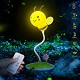 HSJLH Luz Nocturna de Abeja de Dibujos Animados, Control Remoto instantáneo de 360 Grados, Carga de batería incorporada Ajustable, lámpara de Lectura de cabecera Infantil USB,140 * 360mm