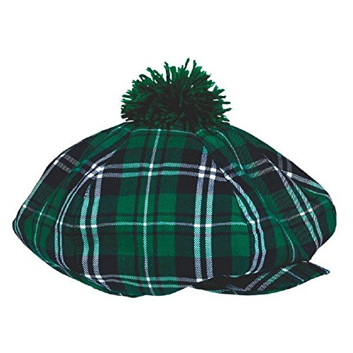 amscan 258693 Green Plaid Adult Gatsby Hat, 1ct
