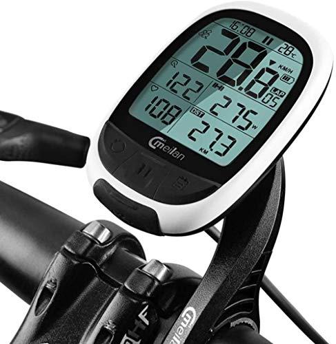 Ordenador de Bicicleta Multifunción Impermeable Cuentakilómetros inalámbrico Velocímetro Accesorios para Bicicletas con retroiluminación Grande Pantalla LCD de Alta definición