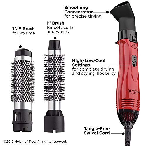 REVLON 1200W Style, Curl, and Volumize Hot Air Kit