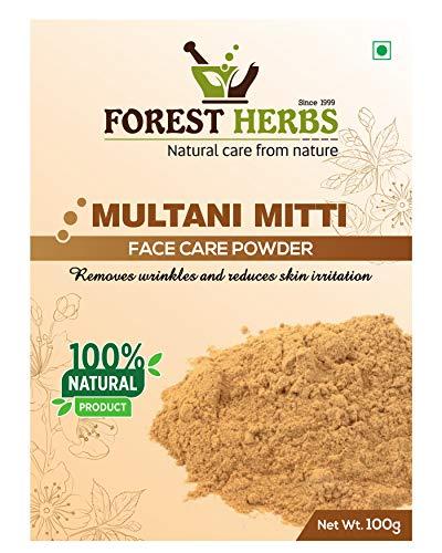 Forest Herbs 100% Natural Multani Mitti Powder (Fuller's Earth/Calcium Bentonite Clay) For...