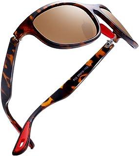 77baf7c4ce kimorn Gafas De Sol Polarizado Para Los Hombres Deporte Ciclismo Marco  Ovalado Caucho Rojo Gafas De