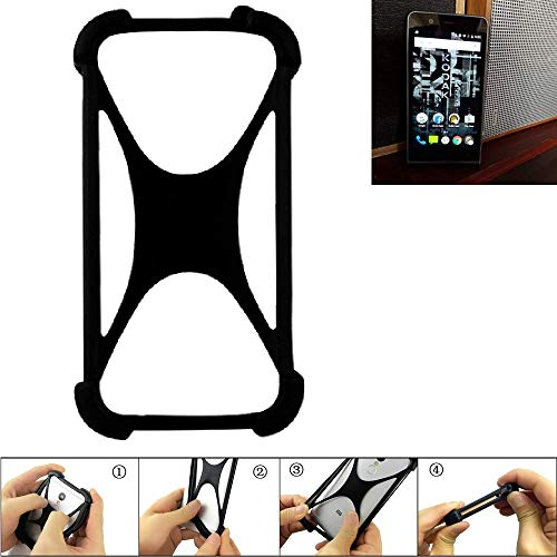 K-S-Trade® Handyhülle Für Kodak Ektra Schutz Hülle Silikon Bumper Cover Case Silikoncase TPU Softcase Schutzhülle Smartphone Stoßschutz, Schwarz (1x),