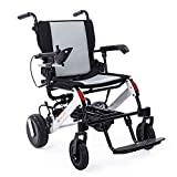 ELENKER 2020 Electric Wheelchair, Lightweight Foldable Power Wheel Chair with Retractable Handle for Travel Outdoor