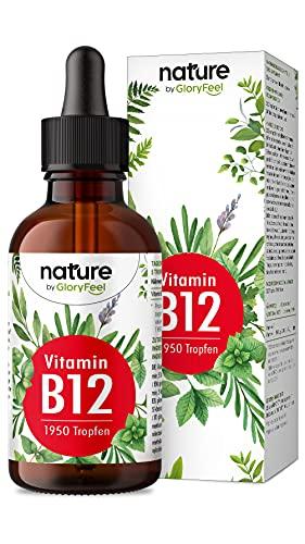 Vitamin B12 Tropfen - 75ml (1950 vegane Tropfen) - Beide Bio-Aktivformen (Methyl- & Adenosylcobalamin) - Ohne Alkohol - Hoch bioverfügar, Laborgeprüft ohne Zusätze in Deutschland hergestellt