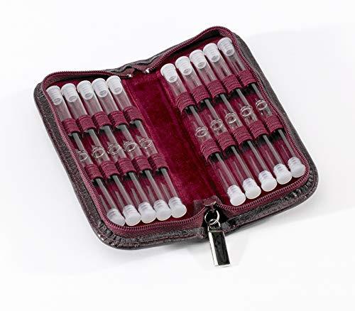 Homöopathie Taschenapotheke Klassik mit 20 Klargläsern für Globuli (rot)
