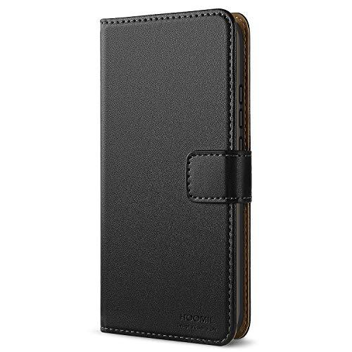 HOOMIL Handyhülle für Huawei Honor 10 Hülle, Premium PU Leder Flip Schutzhülle für Huawei Honor 10 Tasche, Schwarz
