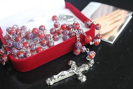 rosarybeads4u BNIB - Cuentas de cristal de Murano para rosarios (6 mm)