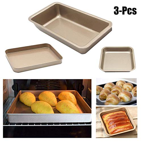 3 Size Advanced Carbon Steel Nonstick Square Baking Pan Tray Utensil Para Microondas Best Cookie Sheets Baking Tray