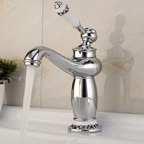 Maifeini _ cobre antiguo caliente y frío grifo caliente y frío en lavabo grifo baño grifo