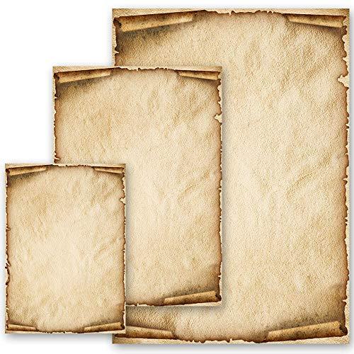 Carta da lettera decorati OLD STYLE 50 fogli DIN A4
