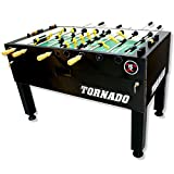 Tornado Tournament 3000 Foosball Table - Made in The USA - Commercial Tournament Quality for The Home - Made by Valley Dynamo - Incredible Table Soccer Game (1 Man Goalie, Black)