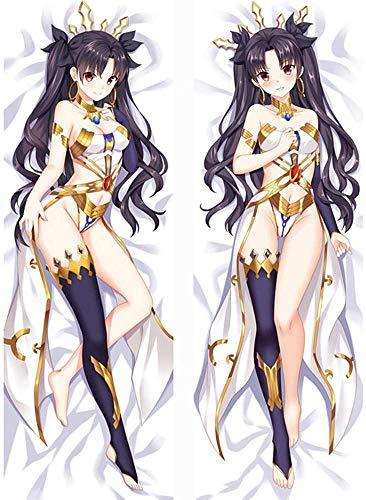 Promini Anime Dakimakura Body Anime Fate/Grand Order Pillowcase Sexy Hug Pillowcase Throw Pillow Case Body Pillow Cover for Sofa Bedding 20 x 60 inch