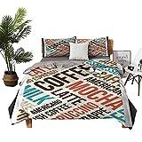 Four-Piece Bedding Pillowcase Lannel Bed Sheets Queen Cappuccino Mocha Espresso Super Soft Fiber W104 xL90