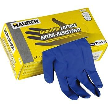 100 guanti da lavoro in nitrile monouso ambidestri tg XL colore blu