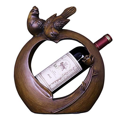 Portabotellas Pequeño pájaro Vino Estante Moderno Sala de Estar Vino gabinete de Vino Pantalla de exhibición para Decoraciones Domesswarming New Home Regalos Estantes de Vino
