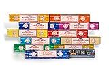 Satya - Set Regalo di incenso Assortito, Formato B, 15 g, 12 Confezioni, VCINC1000