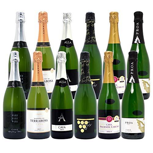 本格シャンパン製法だけの厳選泡12本セット((W0AC18SE))(750mlx12本(6種12本)ワインセット)