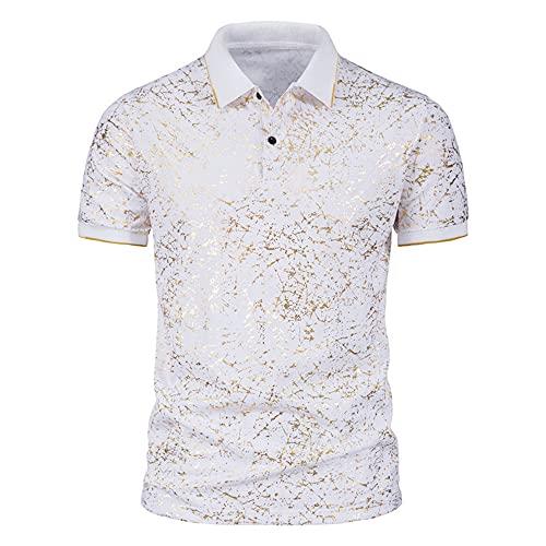 Polo Shirt Hombre Verano Slim Fit Moderna Hombre Deportiva Camisa Personalidad 3D Estampado Henley Camisa...