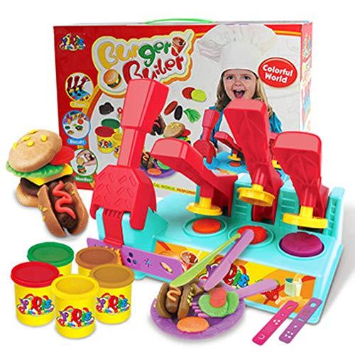Dry Clay Kit,8 Farben Polymer Clay,Bunte Küchenkreation Modellierung Set, Ungiftig und Nicht Klebrig,mit 12 Modellier Werkzeug,Beste DIY Geschenk für Kinder
