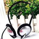 Auriculares deportivos en ejecución de metal, con cable para el cuello, 3,5 mm, jack de música para iPhone, Samsung, Cellphone PC, portátil, MP3/MP4