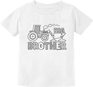 Big Brother Shirt Coloring Kit Tractor Loving Boys Toddler Kids T-Shirt