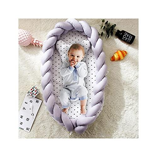 N / B Nido de bebé, Tumbona para colecho, Cama de Cuna portátil Plegable Tejida de algodón, Regalo de Ducha para recién Nacidos Viajar y Tomar una Siesta