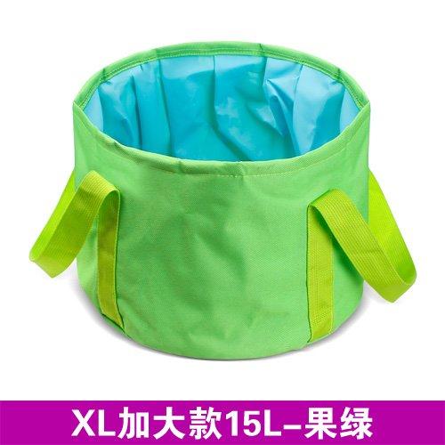 Chuan Rong Bassin Pliant lavabo extérieur Touristique Bassin Portable, Chiffon Oxford 15L-Fruit Vert