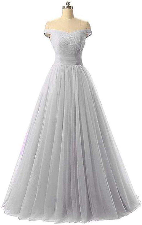 Honeydress Women's Aline Tulle Ball Gown Strapless Empire Waist Long Evening Homecoming Dress