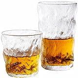 Azanaz Juego de 8 piezas de cristal glaciar (300 ml×4 y 380 × 4)