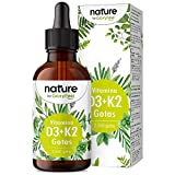 Vitamina D3 + K2 MK-7 en gotas - 5.000 U.I. por 5 gotas - 75ml (2550 Gotas) - Alta dosificación y Alta Bioactivdad con aceite MCT - Premium: K2VITAL® de Kappa 99,7% All Trans
