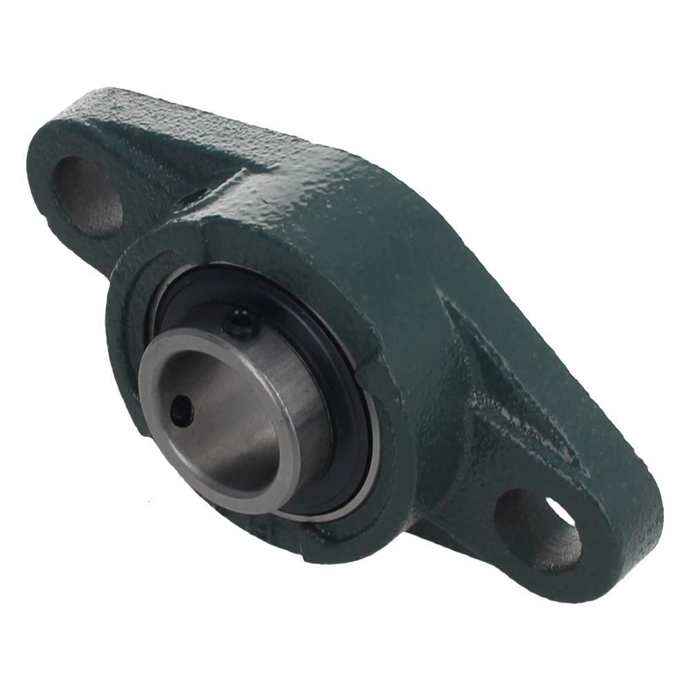 Othmro UCP206 Flanged Pillow Block Bearing 30mm Bore Diameter,Bearing Steel Cast Iron Set Screw Lock 2pcs