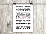 artissimo, Poster mit Spruch, Din A4, PE0041-DR, Tanze im