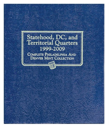 Whitman Album #2821- Statehood Quarters with Territories 1999-2009 P&D