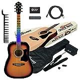 Visual Note Pack Acoustic: aprender a tocar la guitarra. Incluye guitarra acústica Ibanez, VN50 NJP Sunburst y Visual Note Kit ya instalado más accesorios