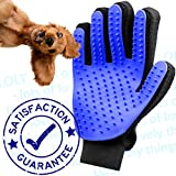 (2020 Upgraded) Silicone Dog Brush Grooming Glove By LOLT Removes loose hair whilst offering relaxing Massage. Great for All Dogs, Terrier Cockapoo Labrador Spaniel Boxer Frenchie Collie (Blue)