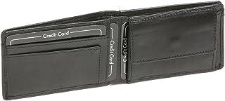 Cartera pequeña para señores Monedero para señoras con RFID LEAS, Piel auténtica, Negro - ''LEAS Mini-Edition''
