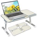 Lepdesks - Bandeja para portátil o cama, altura regulable, plegable, soporte para ordenador portátil, mesa para la cama, mesa de desayuno, mesa para el ordenador portátil, mesa para el cuidado