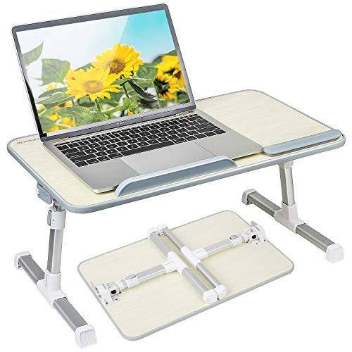 Like-very Höhen- und winkelverstellbarer Lapdesk Klappbarer Laptopständer Betttisch Frühstückstablett für Sofa, Bett, Terrasse, Balkon, Garten