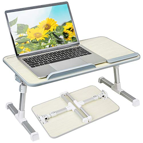 Like-very Height and Angle Adjustable Laptop Bed Table Stand Tray Lapdesk...