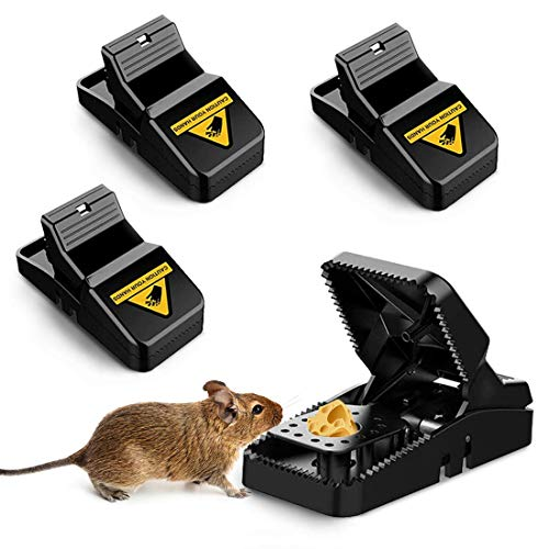 Profi Mausefalle, 4 Stück Mäusefalle Wiederverwendbar,Rattenfalle Einfaches Hygienisch in Haus Garten Drinnen Draußen